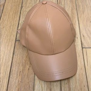 Free People Faux Leather Ball Cap. NWOT